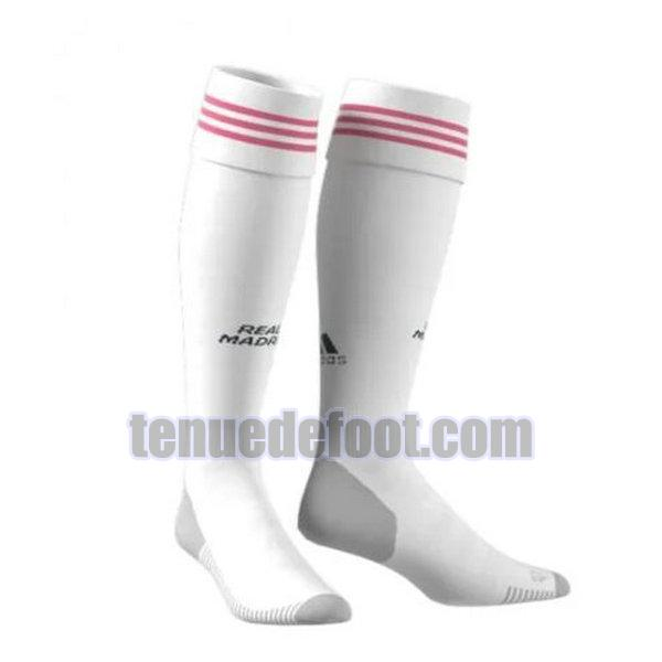 chaussettes real madrid 2020-2021 domicile blanc