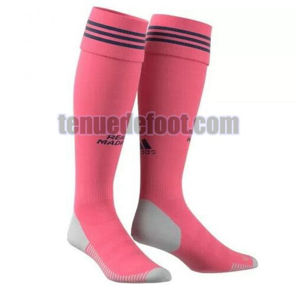chaussettes real madrid 2020-2021 exterieur rose