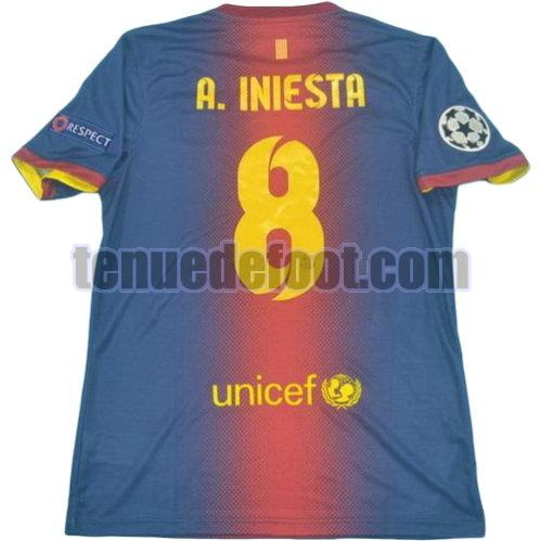 maillot a.iniesta 8 fc barcelone lfp 2012-2013 domicile rouge bleu