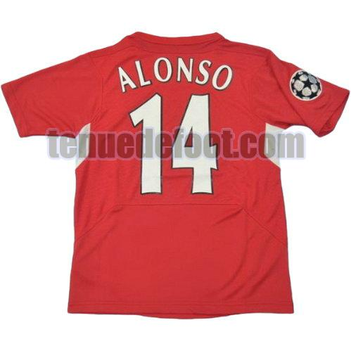 maillot alonso 14 liverpool 2004-2005 domicile rouge