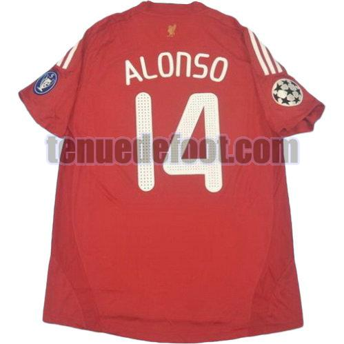 maillot alonso 14 liverpool 2008-2010 domicile rouge