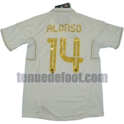maillot alonso 14 real madrid 2011-2012 domicile blanc