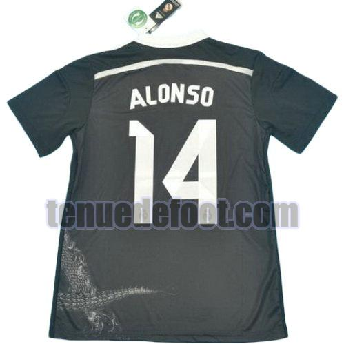maillot alonso 14 real madrid 2014-2015 exterieur noir