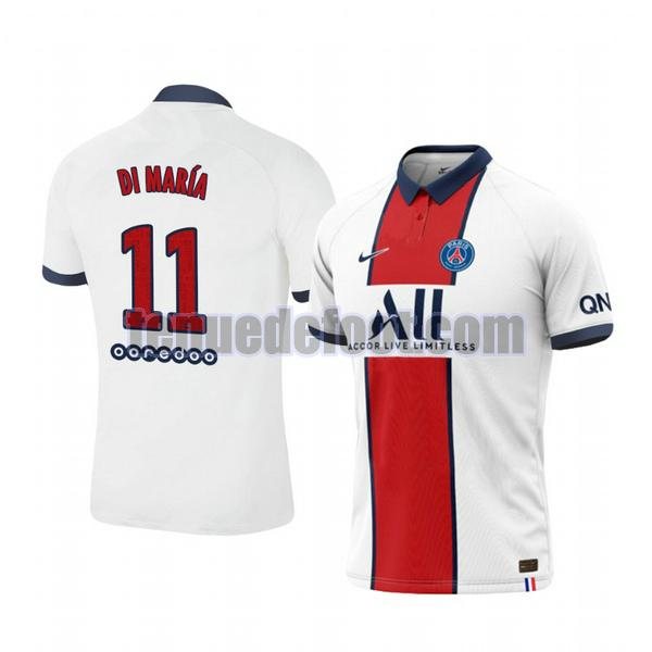 maillot angel di maria 11 paris saint germain 2020-2021 exterieur blanc