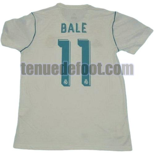 maillot bale 11 real madrid ucl 2017-2018 domicile blanc