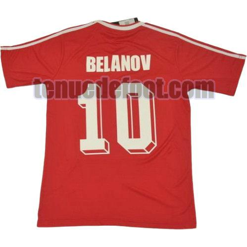 maillot belanov 10 cccp 1986 domicile rouge