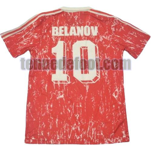 maillot belanov 10 cccp 1990 domicile rouge