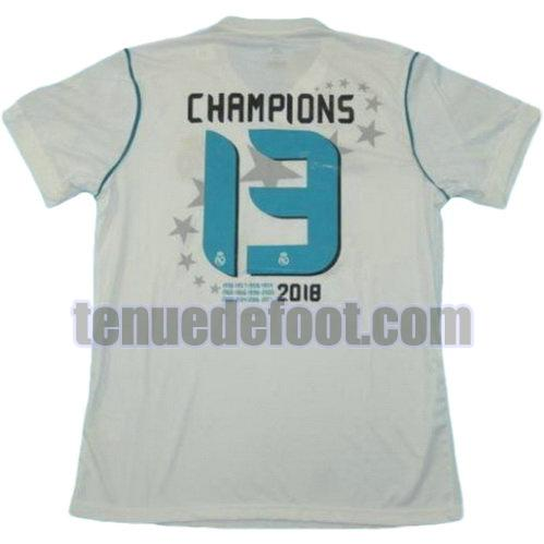 maillot champions 13 real madrid ucl 2017-2018 domicile blanc