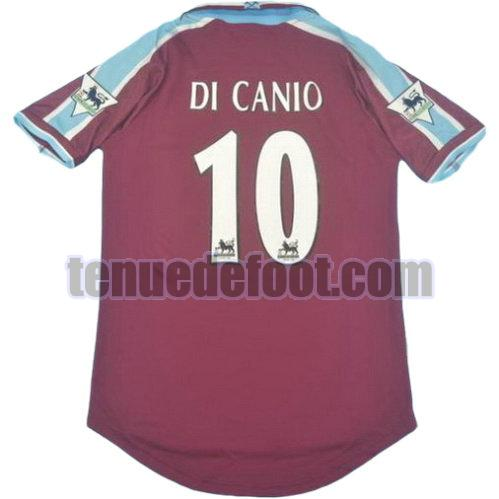 maillot di canio 10 west ham united pl 1999-2001 domicile rouge