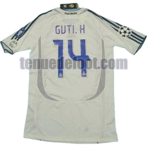 maillot guti.h 14 real madrid 2006-2007 domicile blanc