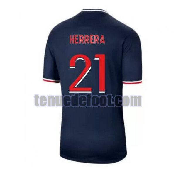 maillot herrera 21 paris saint germain 2020-2021 domicile bleu