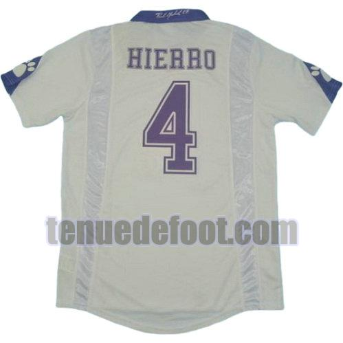 maillot hierro 4 real madrid 1997-1998 domicile blanc