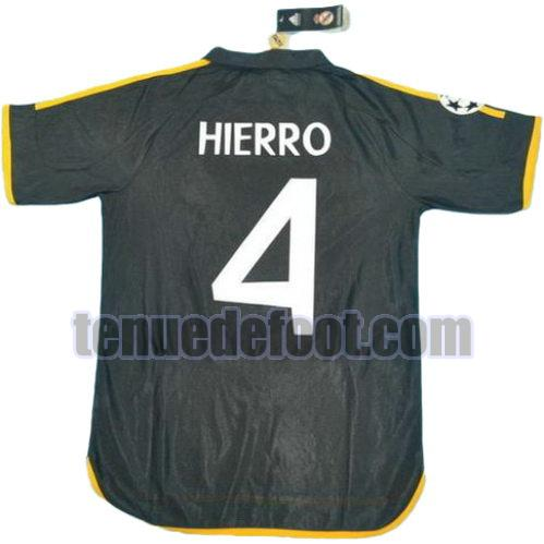 maillot hierro 4 real madrid 1999-2000 exterieur noir