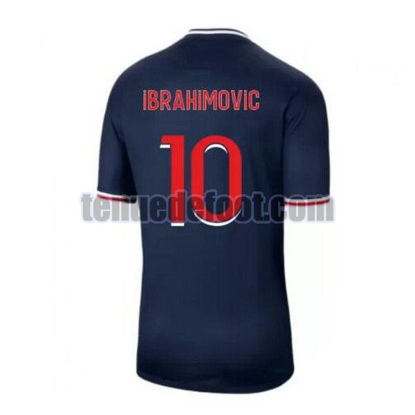 maillot ibrahimovic 10 paris saint germain 2020-2021 domicile bleu
