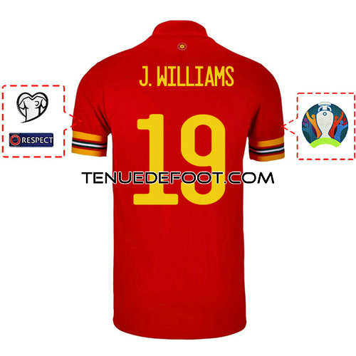 maillot j.williams 19 galles mondial 2019-2020 domicile