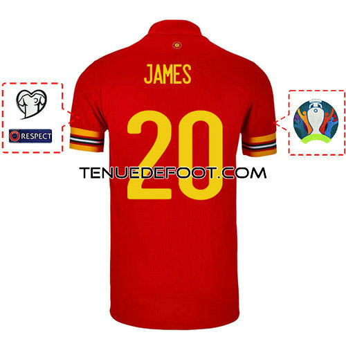 maillot james 20 galles mondial 2019-2020 domicile