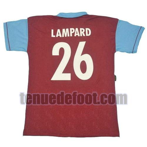 maillot lampard 26 west ham united 1995 100th domicile rouge