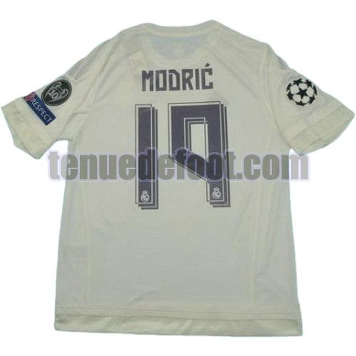 maillot modric 19 real madrid 2015-2016 domicile blanc