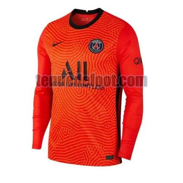 maillot paris saint germain 2020-2021 domicile gardien manches longues orange