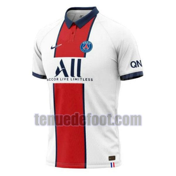 maillot paris saint germain 2020-2021 exterieur blanc