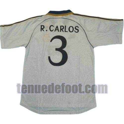 maillot r.carlos 3 real madrid 1999-2000 domicile blanc