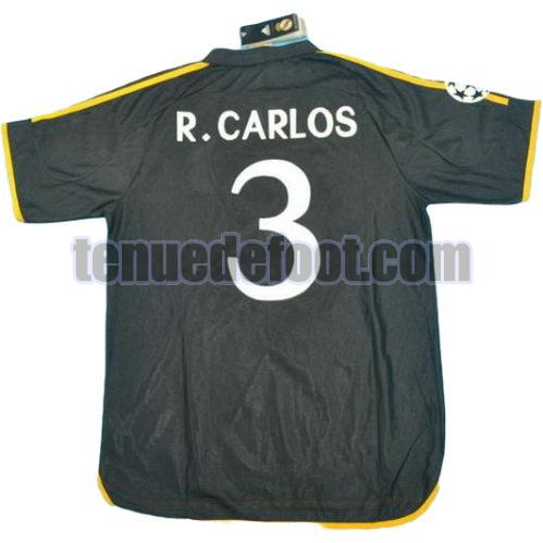 maillot r.carlos 3 real madrid 1999-2000 exterieur noir