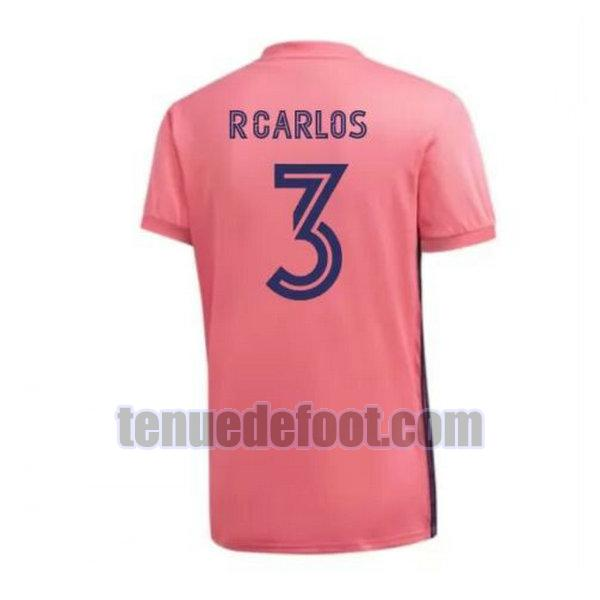 maillot r.carlos 3 real madrid 2020-2021 exterieur rose