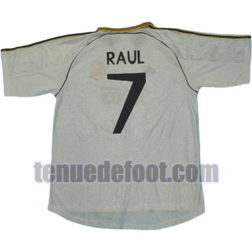 maillot raul 7 real madrid 1999-2000 domicile blanc