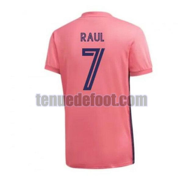maillot raul 7 real madrid 2020-2021 exterieur rose