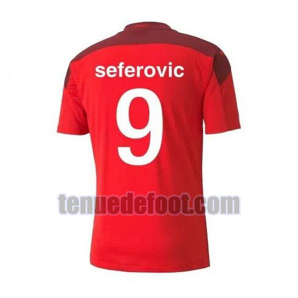 maillot seferovic 9 suisse 2020-2021 domicile rouge rouge