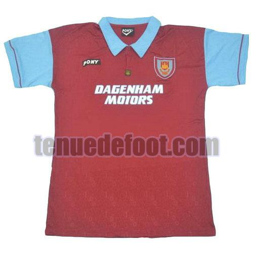 maillot west ham united 1995 100th domicile manche courte rouge