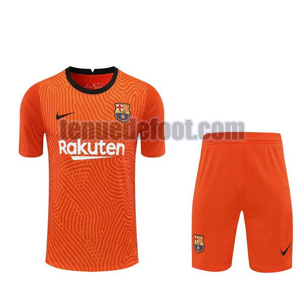 maillots+shorts barcelone 2021 gardien orange orange