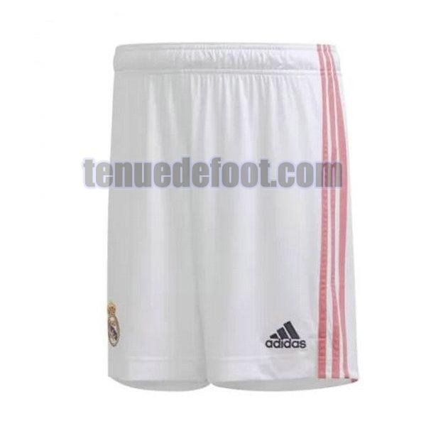shorts real madrid 2020-2021 domicile blanc