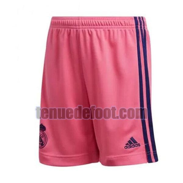 shorts real madrid 2020-2021 exterieur rose